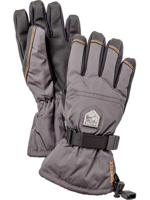 Hestra Jr Gore-Tex Gauntlet Gloves 5-Finger Grafit